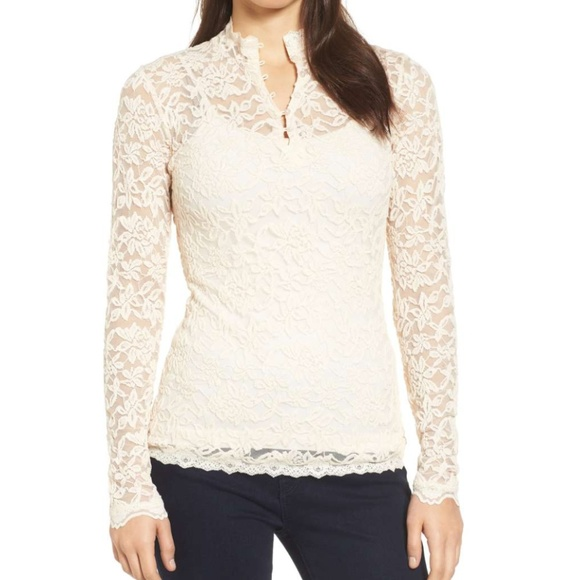 83910482c82614 Rosemunde Tops   Delicia Long Sleeve Lace Top Sz Medium   Poshmark